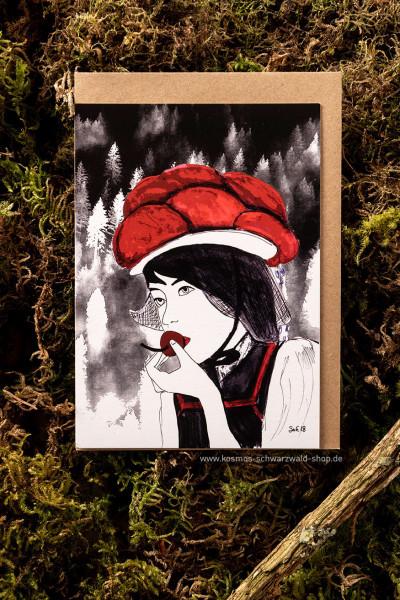 "Postkarte "" Bollenhut Kirsche"""