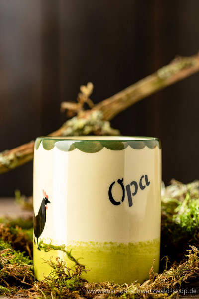 "Tasse ""Opa"" Hahn & Henne Zeller Keramik"
