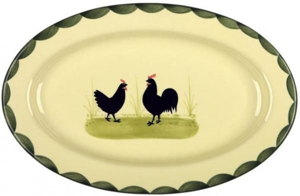 """Platte Ovale Hahn & Henne Zeller Keramik"