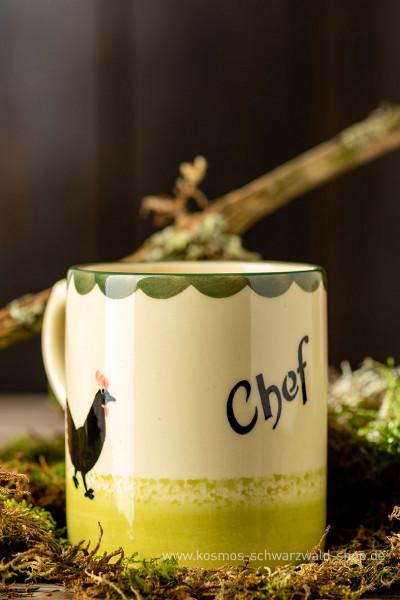 "Tasse ""Chef ""Hahn & Henne Zeller Keramik"