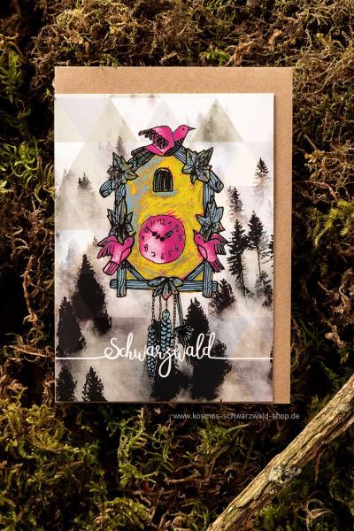 """Postkarte """"Kuckucksuhr Schwarzwald"""""""