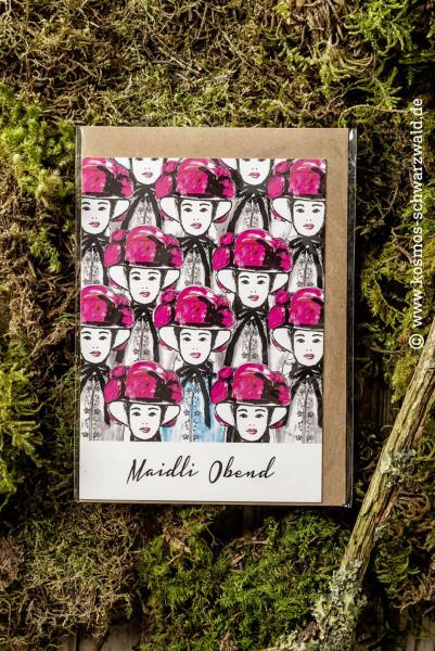 """Postkarte """"Maidli - Obend"""""""