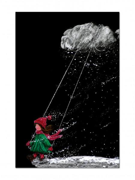 """Postkarte """"Winterkind"""""""