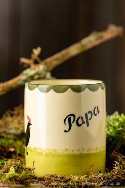 "Tasse ""Papa"" Hahn & Henne Zeller Keramik"