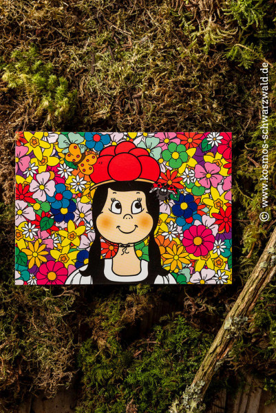 """Anni "" Postkarte Frühling"