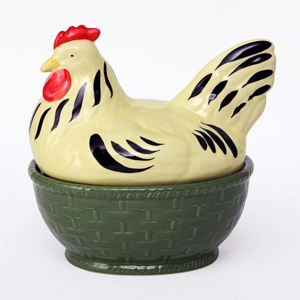 """Suppenterrine Henne "" Zeller Keramik"