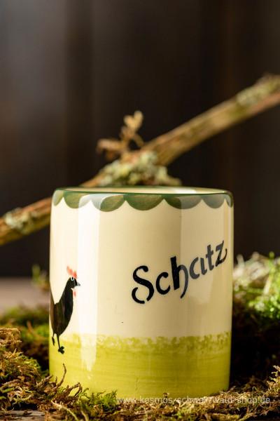 """Tasse """"Schatz"""" Hahn & Henne Zeller Keramik"""