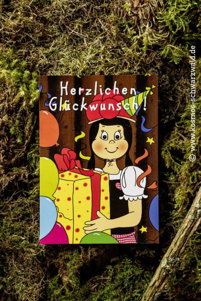 """""""Anni """" Postkarte """"Herzlichen Glückwunsch"""""""