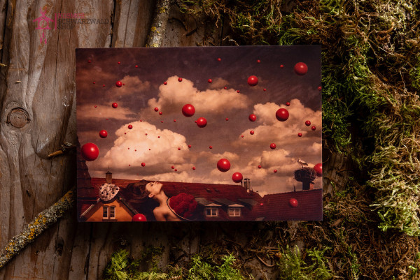 """Postkarte """"Roots in Red series Nr.5"""""""