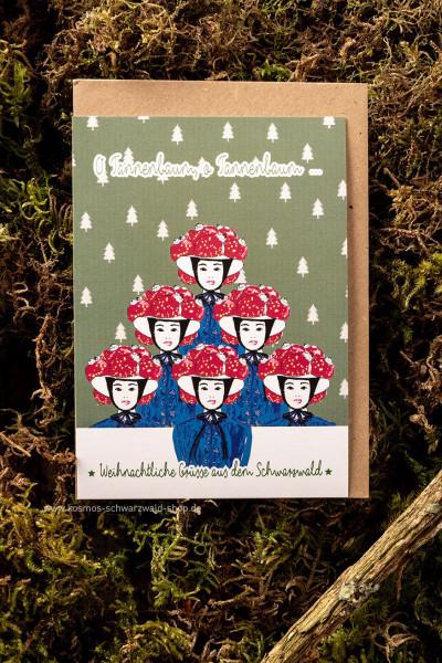 """Postkarte """"Bollenhut - Tannenbaum"""""""