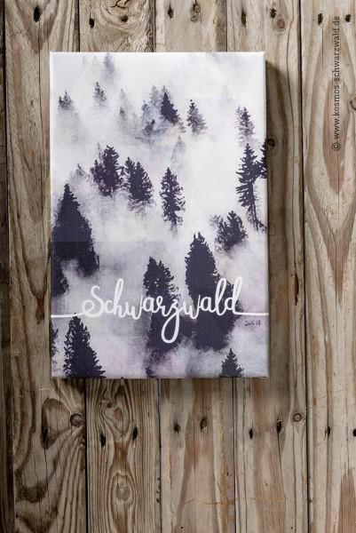 """Leinwand """"Schwarzwald Typo Hoch"""""""