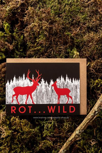 "Postkarte ""Rot...Wild"""