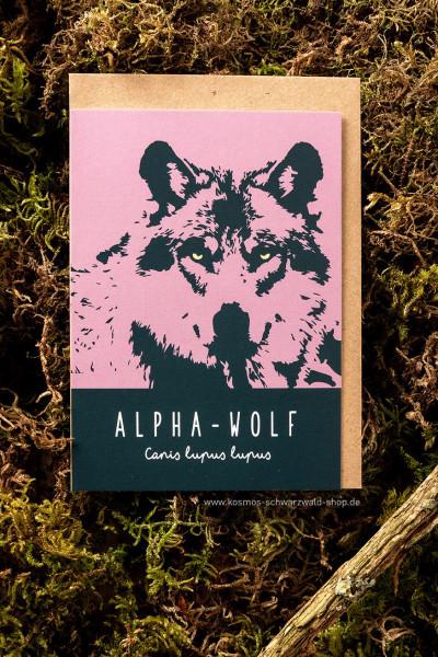 """Postkarte """"Alpha- Wolf"""""""