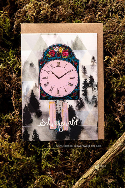 """Postkarte """" Schilderuhr Schwarzwald"""""""