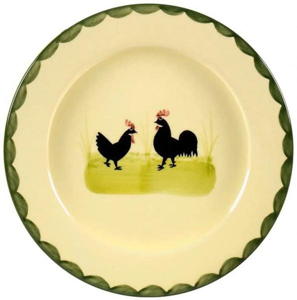 """Teller Flach Hahn & Henne Zeller Keramik"""